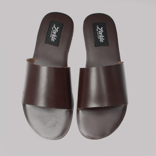 Nero slippers coffee brown leather zorkles zhoes in lagos nigeria
