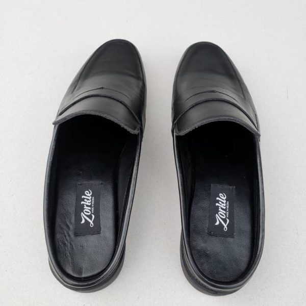 Penny loafers Half Shoes Black Leather ZMS052 - Zorkle Shoes