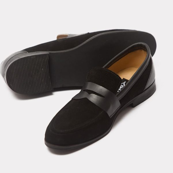 Jush Penny loafers top black suede zorkle shoes in lagos nigeria ZMS058