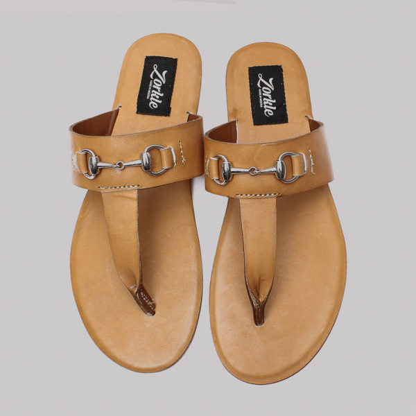 Trey slippers brown leather zorkle shoes in lagos nigeria