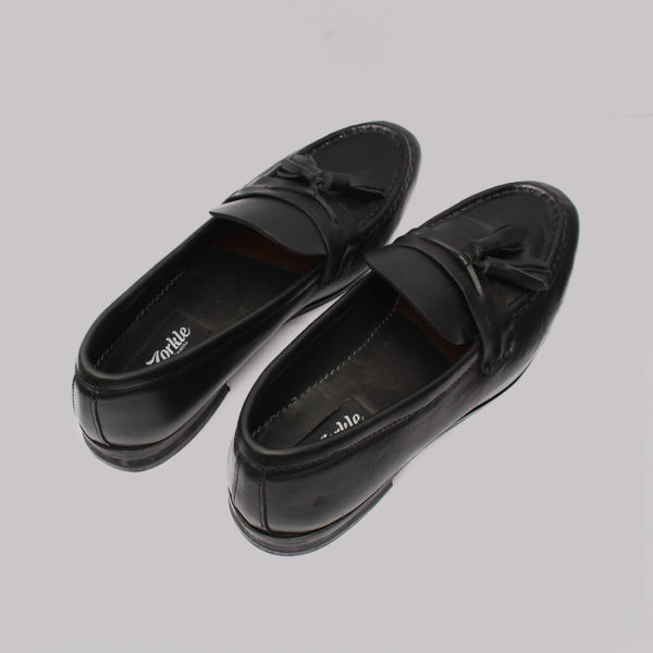 Vito tassel loafers black leather zorkles shoes in nigeria