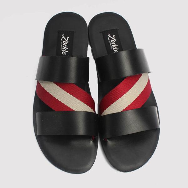 aliko slippers black leather zorkle shoes lagos nigeria