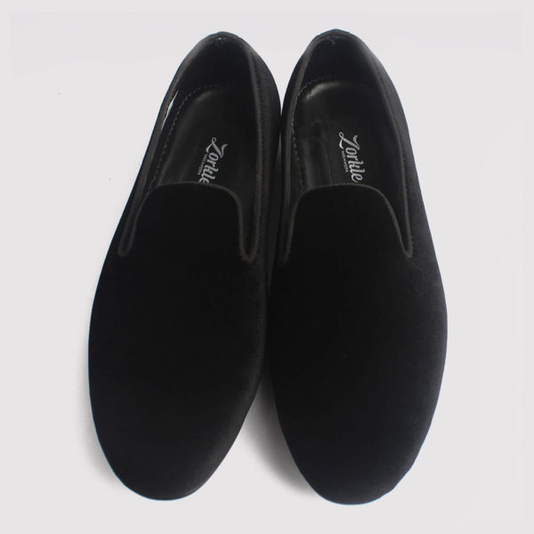 baller velvet slippers loafers black fabric zorkle shoes lagos nigeria