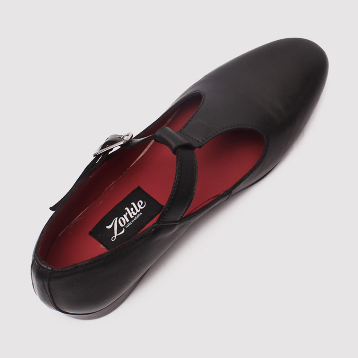 bishop curtina black leather zorkle shoes in lagos nigeria