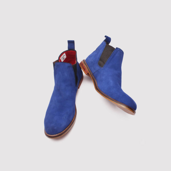 lennon chelsea boots blue suede by zorkle shoes in lagos nigeria