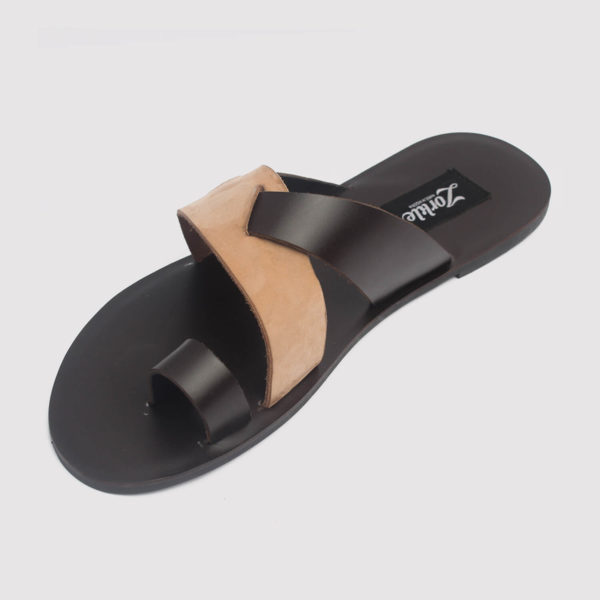dereck slippers brown leather zorkle shoes in lagos nigeria