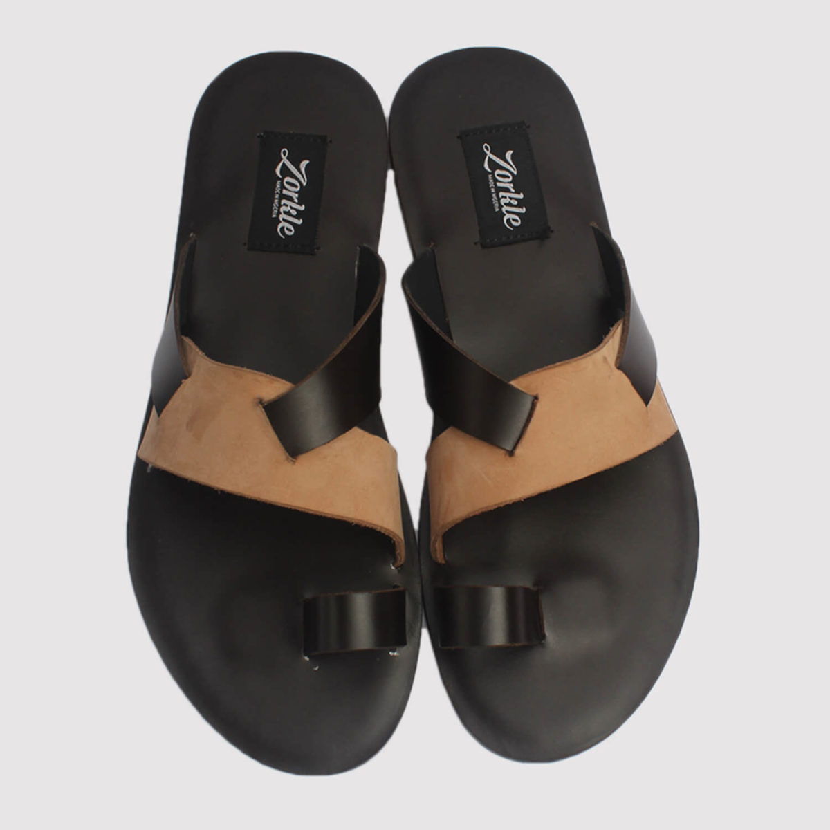 dereck slippers brown leather zorkle shoes lagos nigeria