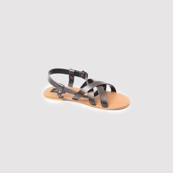 gilda sandals brown leather by zorkle shoes in lagos nigeria