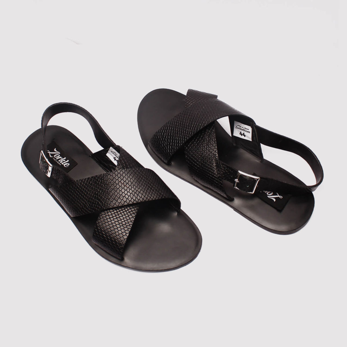 hafred sandals black leather zorkle shoes in lagos nigeria