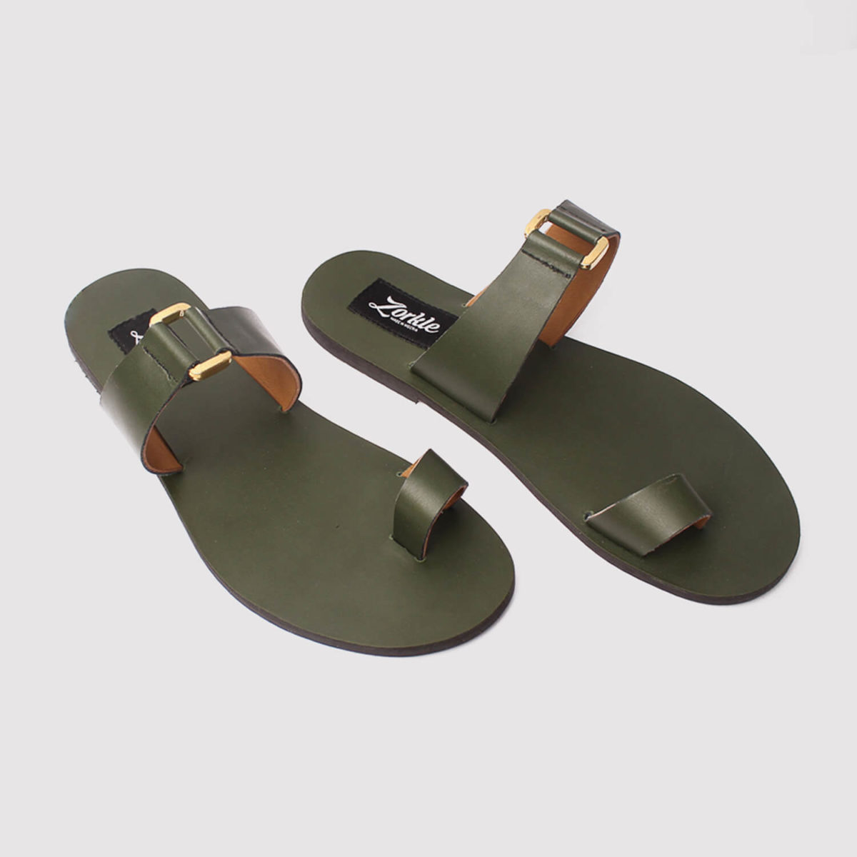 kweenly slippers green leather zorkle shoes in lagos nigeria