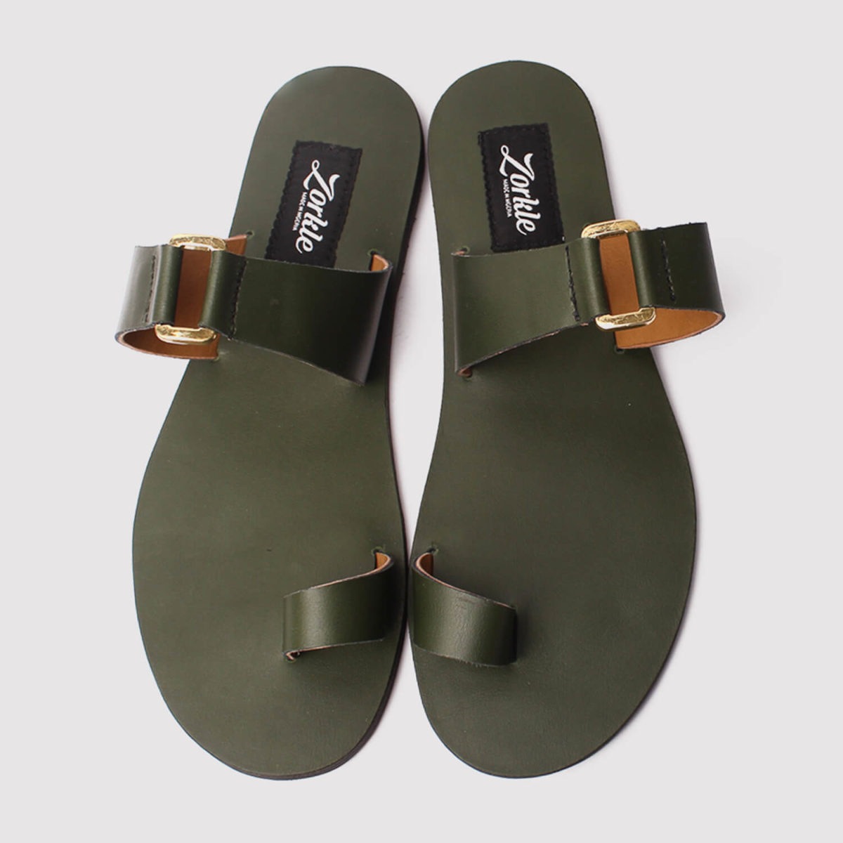 kweenly slippers green leather zorkle shoes lagos nigeria