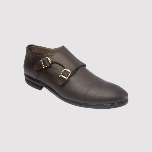monk double strap coffee brown leather zorkle shoes lagos nigeria