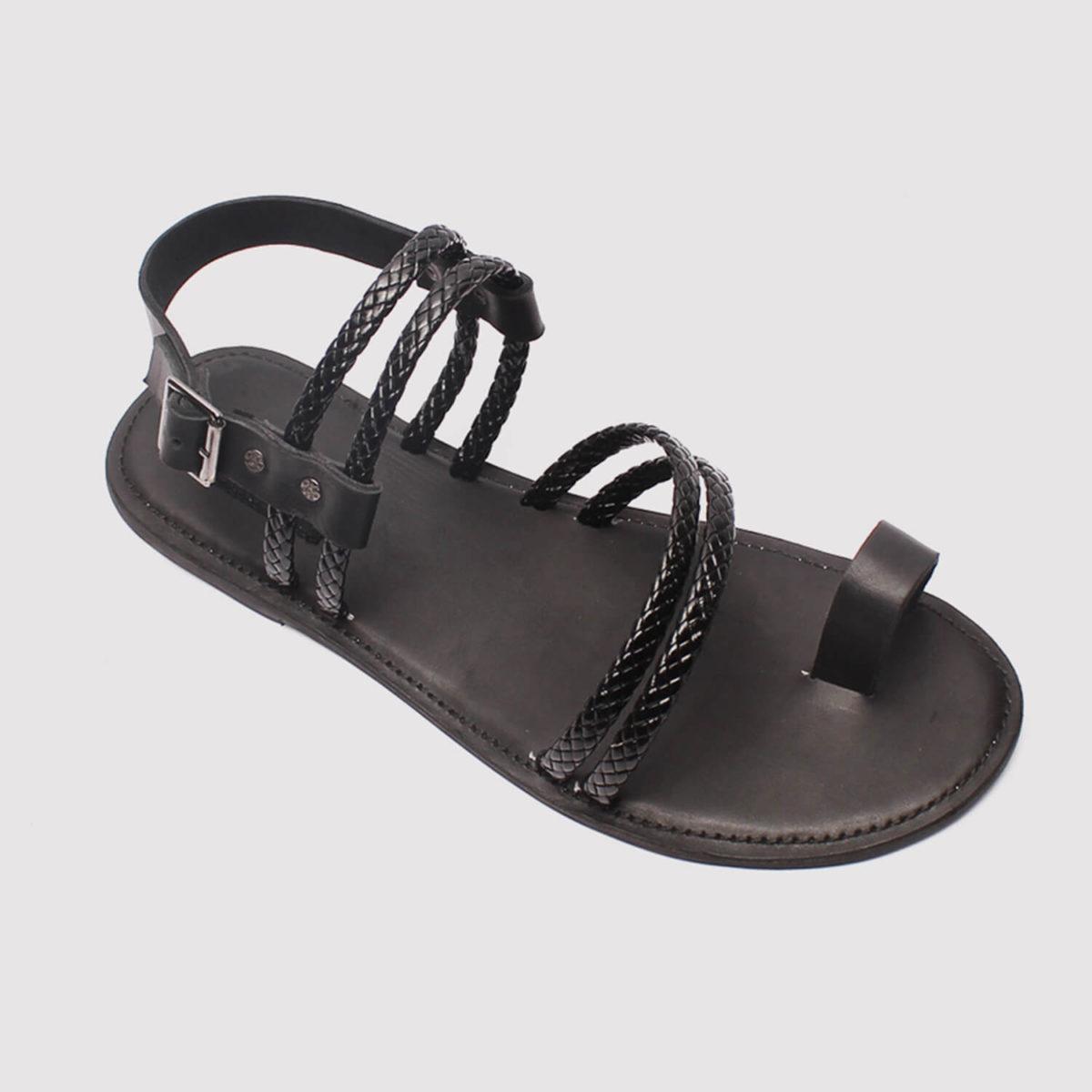morsi black leather sandals zorkle shoes in lagos nigeria