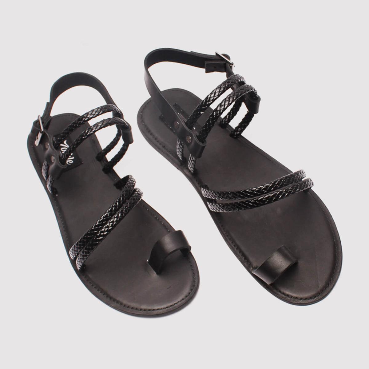 morsi black leather sandals zorkle shoes lagos nigeria