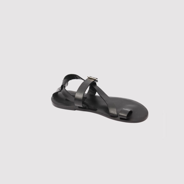 shegz sandals black leather by zorkle shoes in lagos nigeria