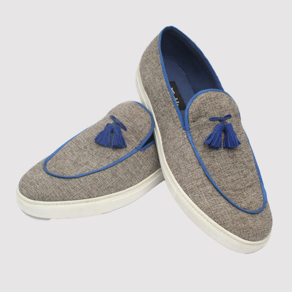 taylor tassel loafers grey fabric zorkle shoes in lagos nigeria