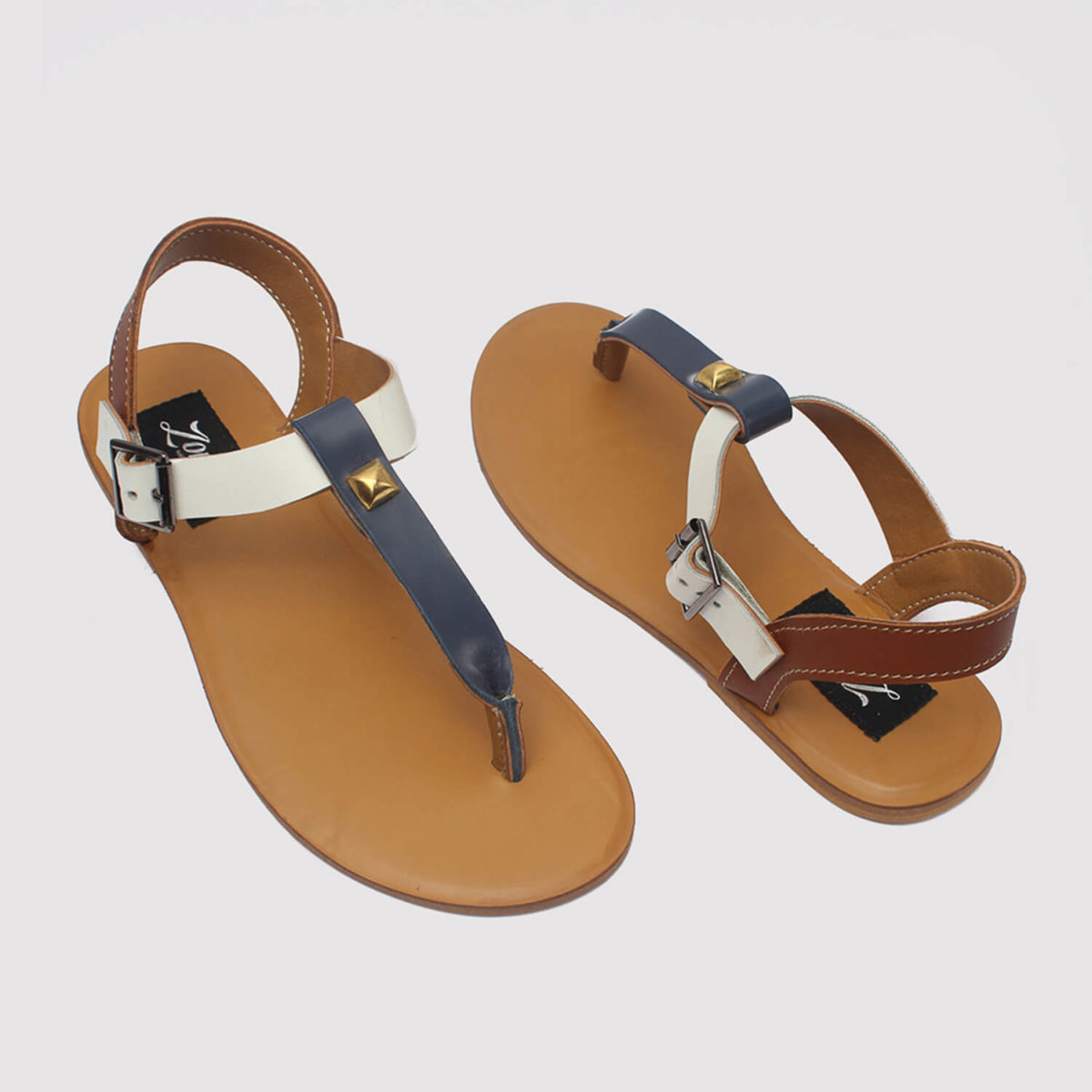 toke sandals blue brown white by zorkle shoes in lagos nigeria