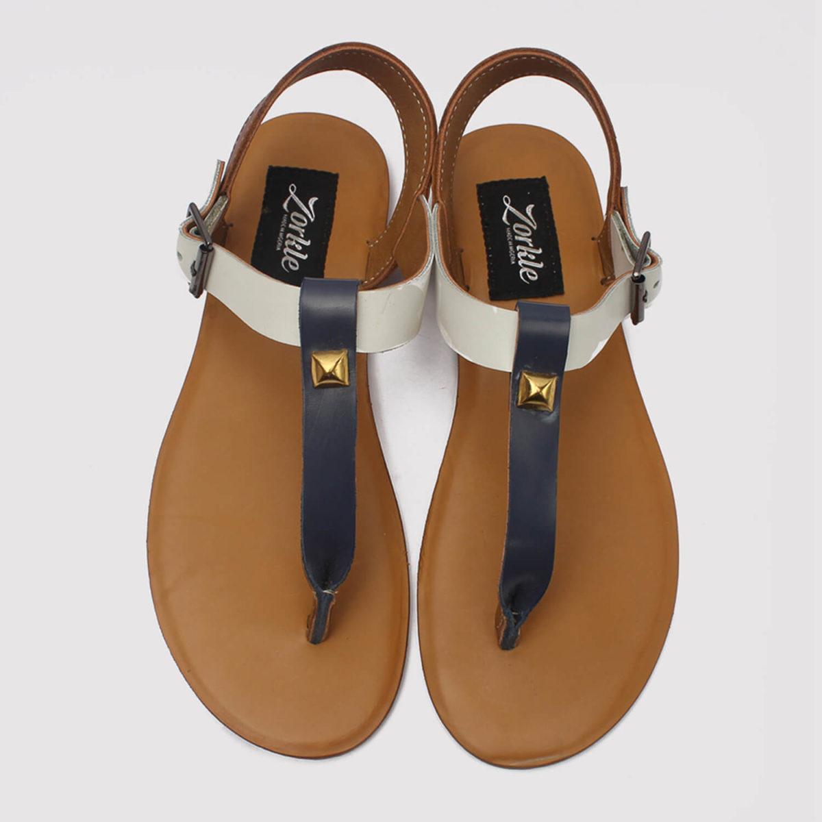 toke sandals blue brown white zorkle shoes lagos nigeria