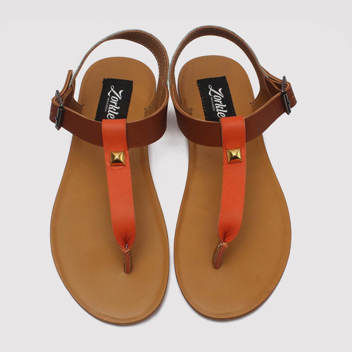 toke sandals orange brown white zorkle shoes lagos nigeria