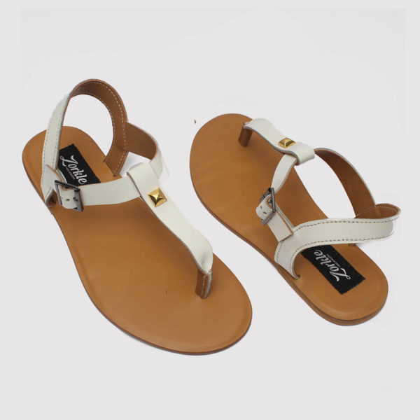 toke sandals white by zorkle shoes in lagos nigeria