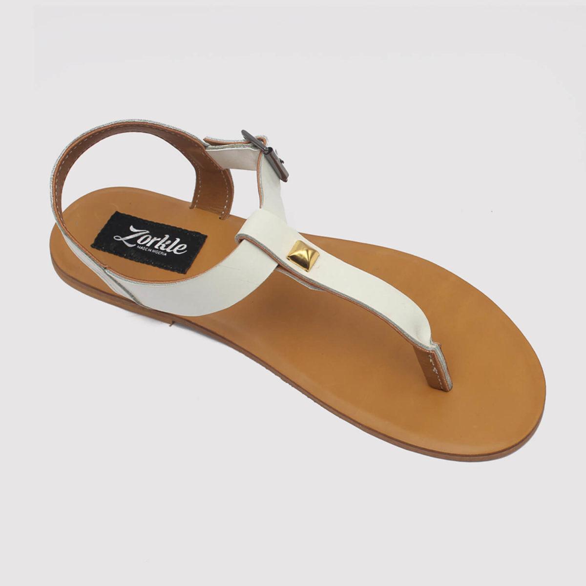 toke sandals white by zorkle shoes lagos nigeria