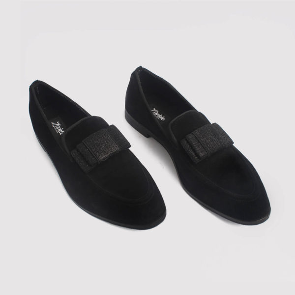 trevor bow loafers black suede by zorkle shoes in lagos nigeria