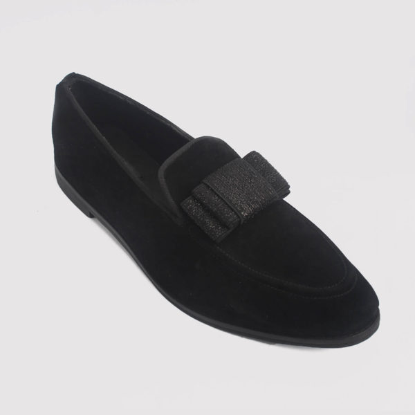 trevor bow loafers black suede by zorkle shoes lagos nigeria