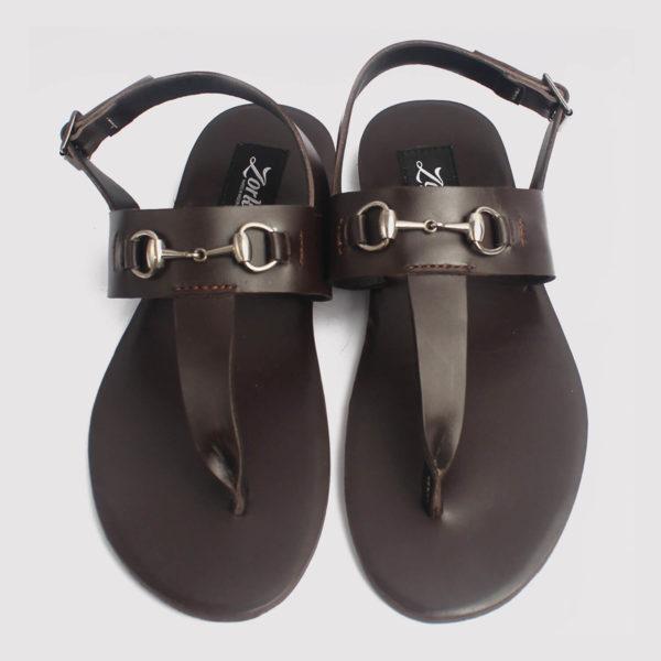 trey sandals coffee brown leather zorkle shoes lagos nigeria