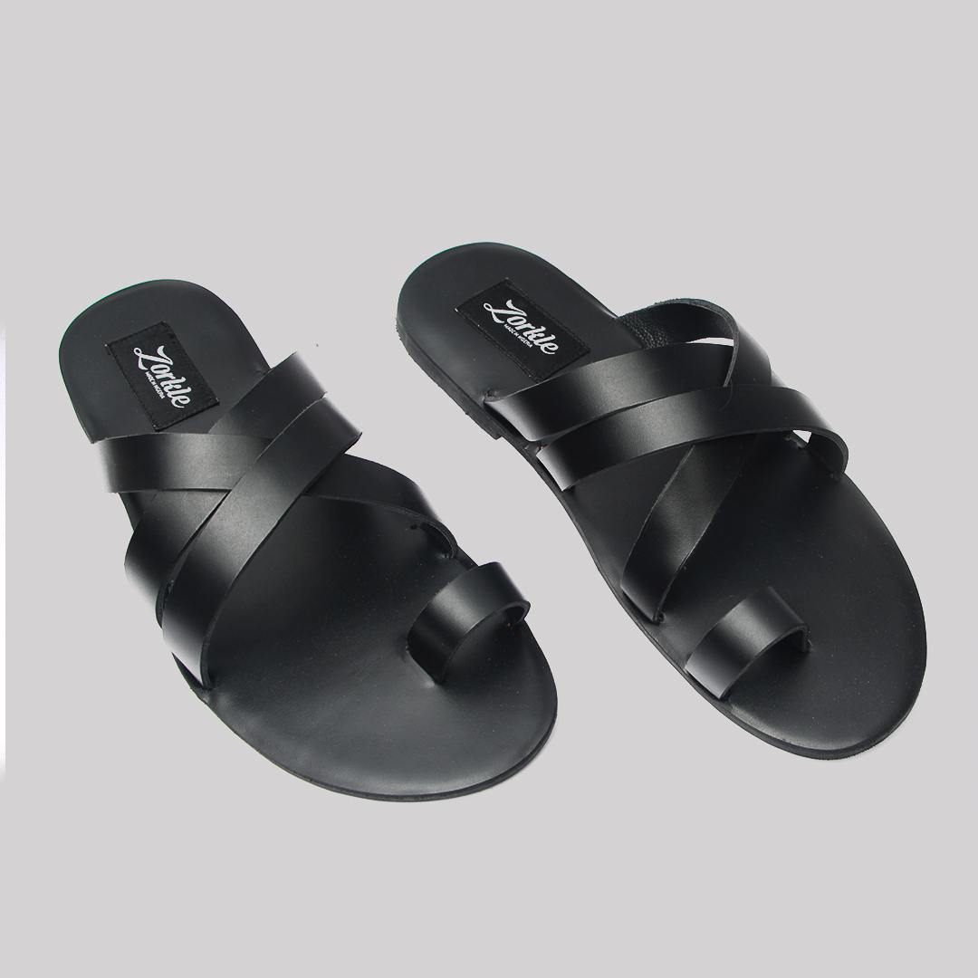 Antler slippers black leather zorkle shoes in lagos nigeria