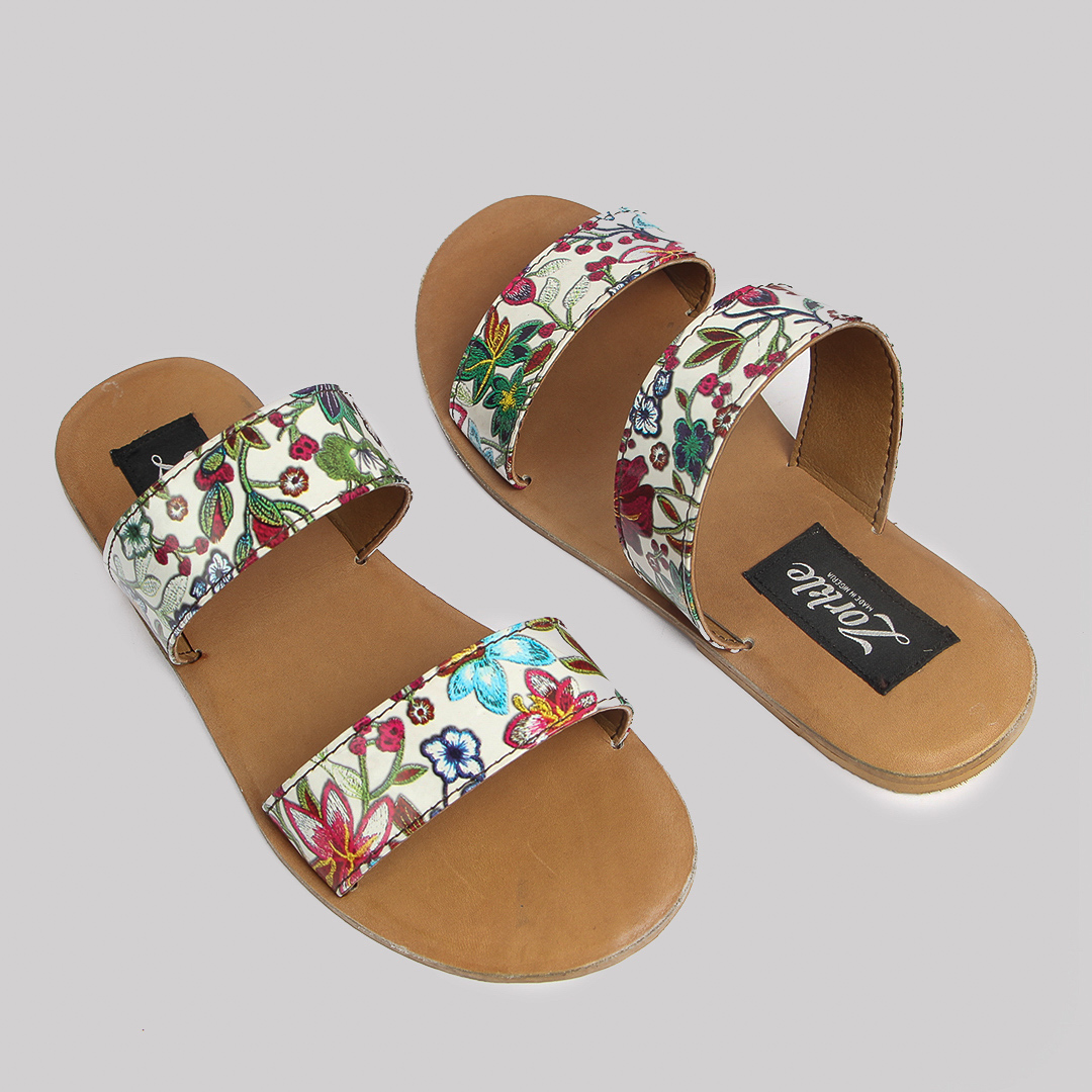 Floret slippers brown leather zorkles shoes in lagos nigeria