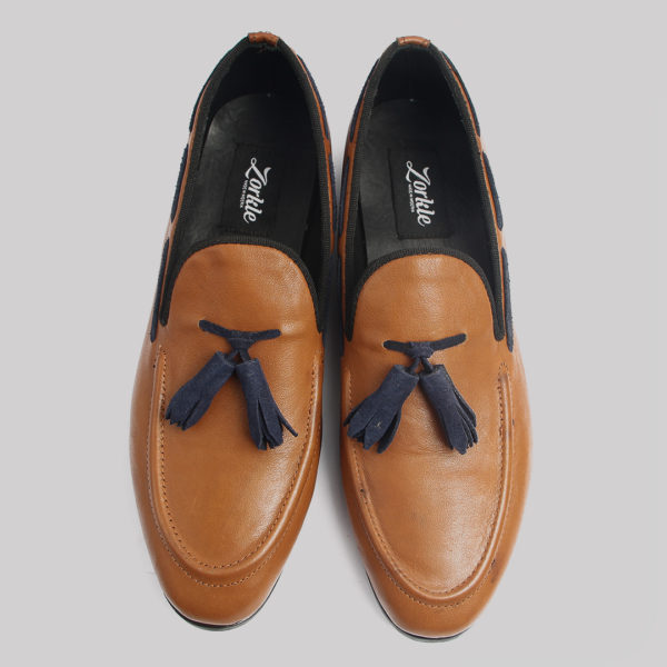 Hiland tassle loafers brown leather zorkles shoes in lagos nigeria
