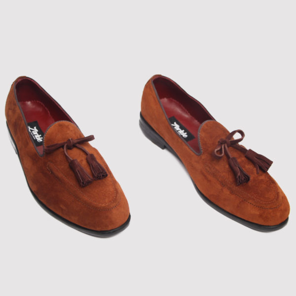 Joey tassle loafers brown suede zorkle shoes in lagos nigeria