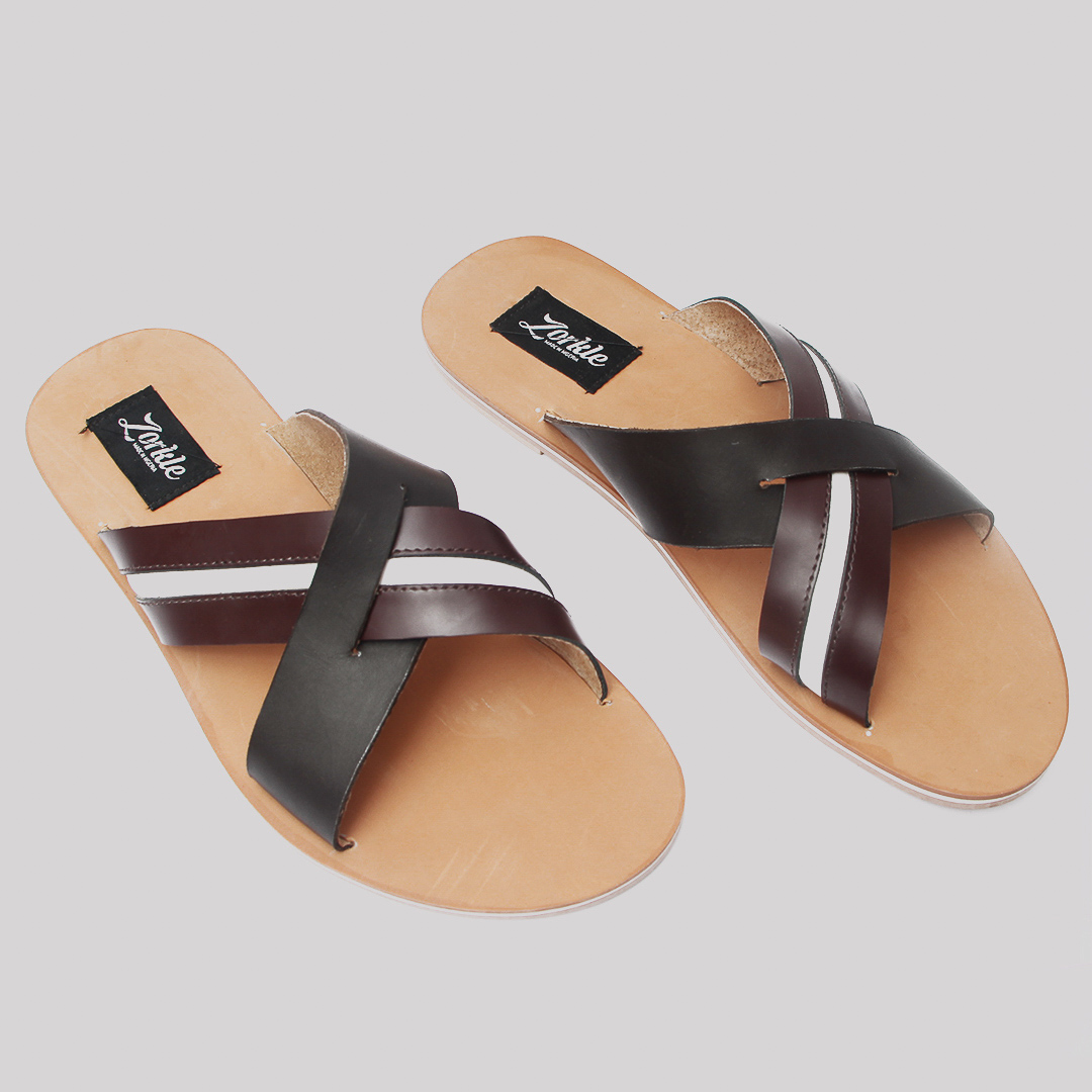 6526acd3d9ac Lere flex cross slippers brown leather zorkles shoes in lagos nigeria