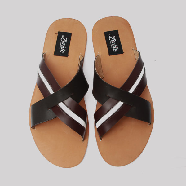 Lere flex cross slippers brown leather zorkles shoes in lagos nigeria