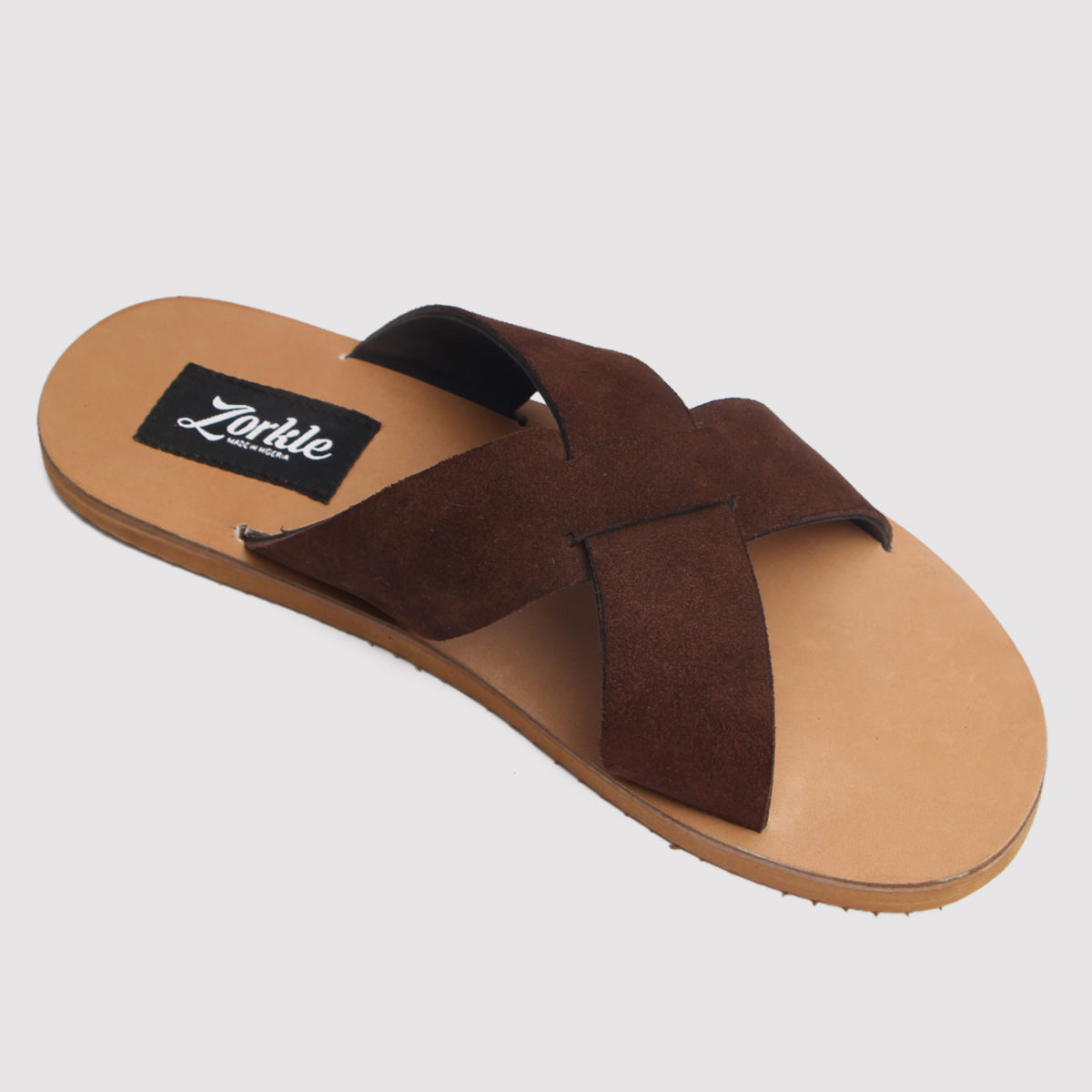 Maiden cross slippers brown suede zorkles shoes in nigeria