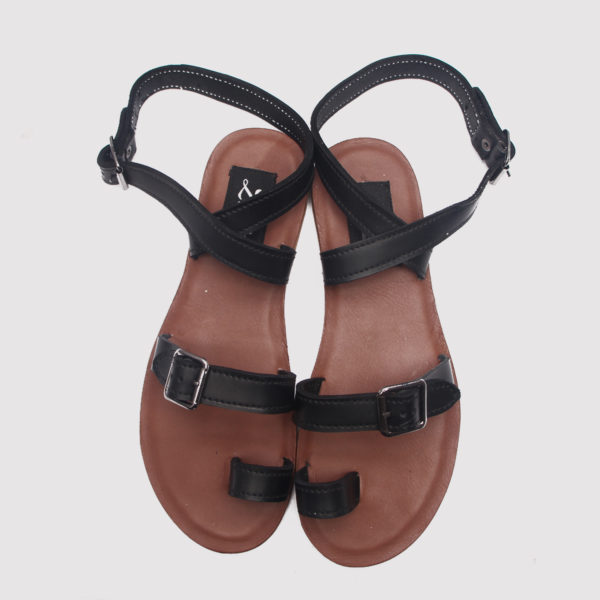 Queensly sandals black leather zorkles shoes in lagos nigeria