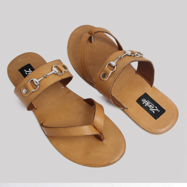 Trey bow slippers brown leather zorkles shoes in lagos nigeria