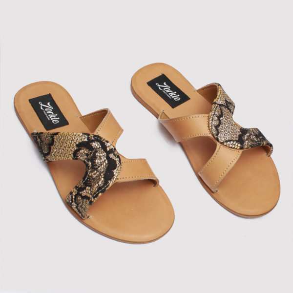 Habi slippers brown satin zorkles shoes in lagos nigeria