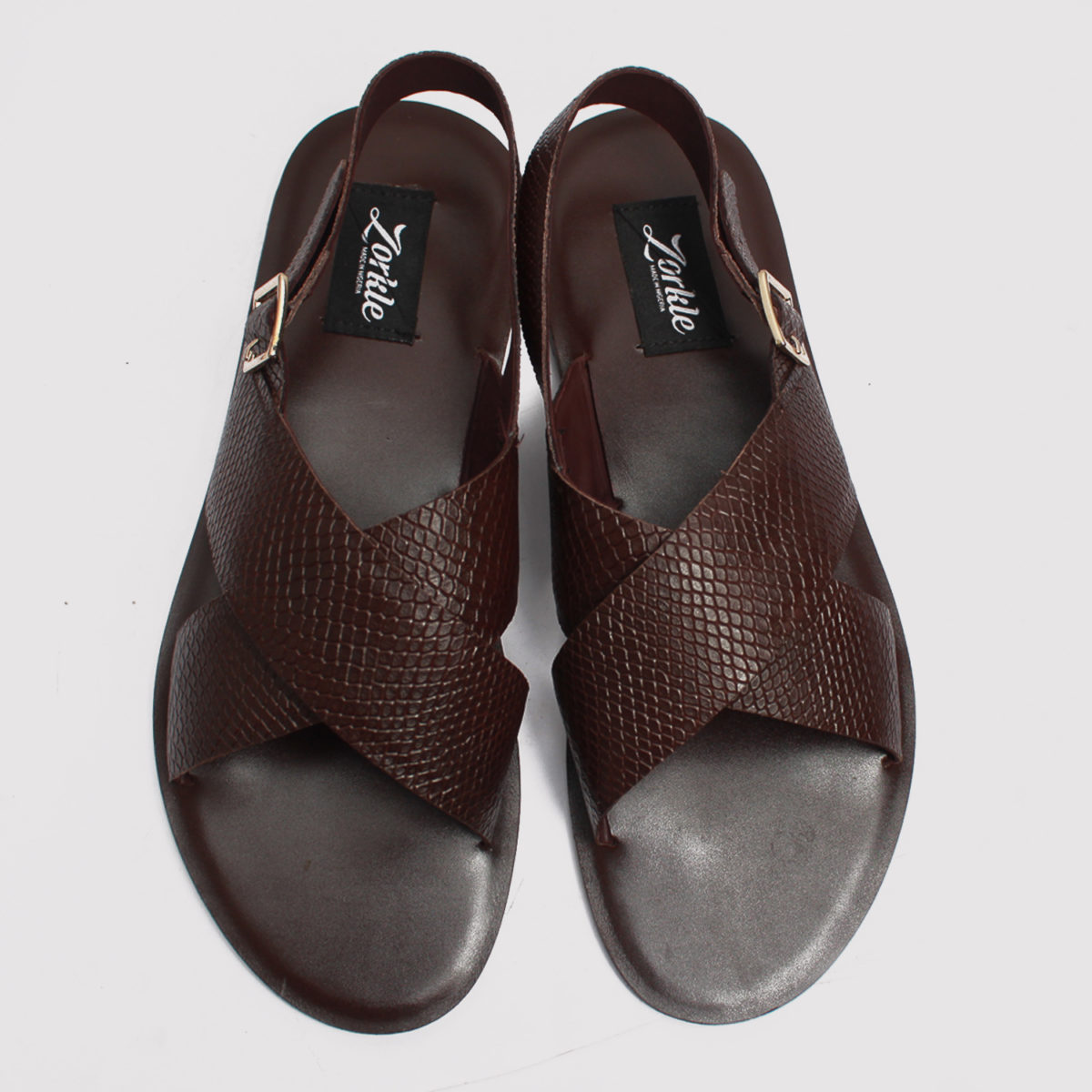 Hafred sandals brown leather zorkles shoes in lagos nigeria