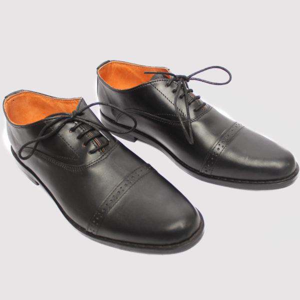 Elnuk captoe shoes black leather zorkle shoes