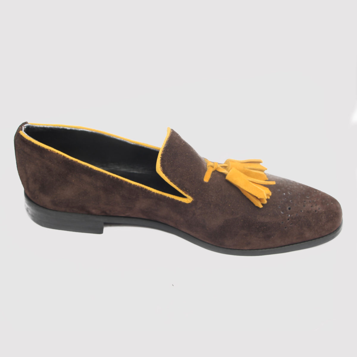Gorgeo tassle loafers brown suede zorkle shoes in lagos nigeria