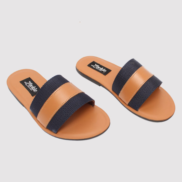 Lere flex slippers blue leather zorkle shoes in lagos nigeria