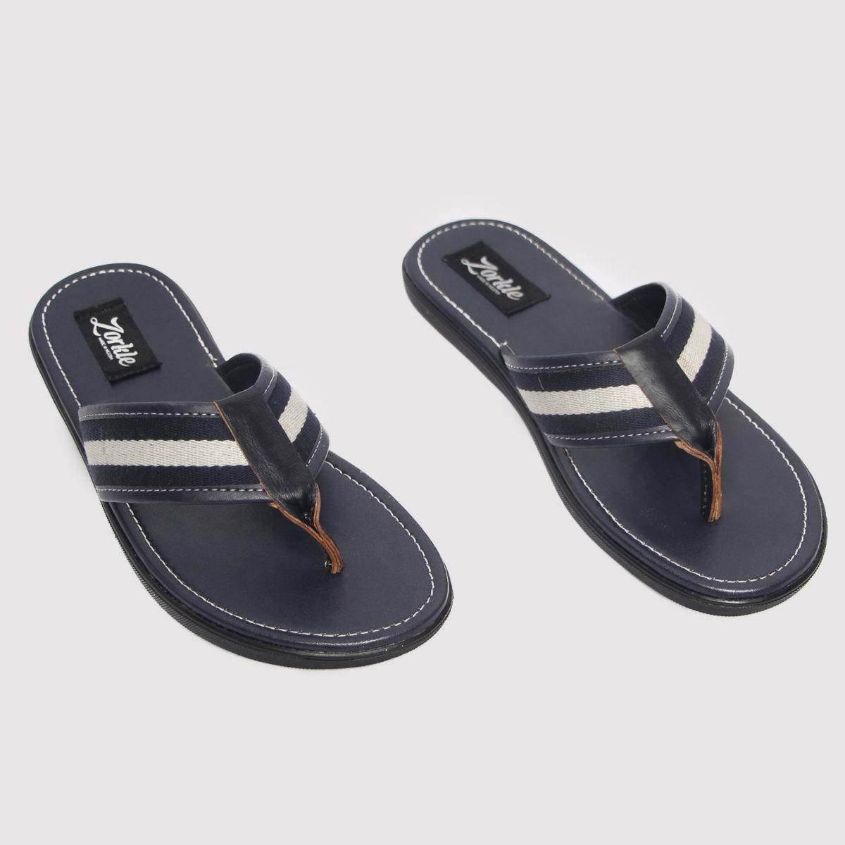 Lere flex slippers blue leather male zorkle shoes in lagos nigeria