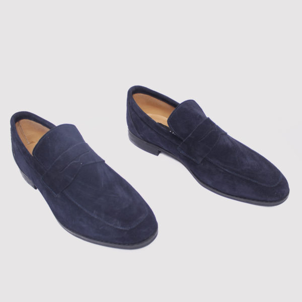 Penny loafers blue suede zorkle shoes in lagos nigeria