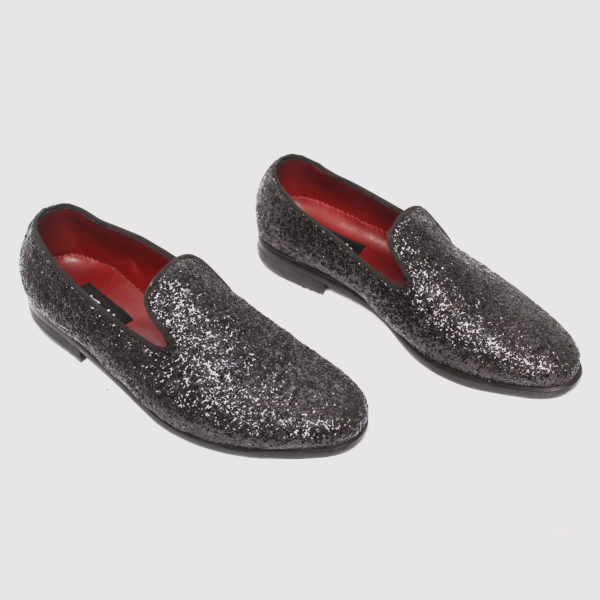 Studder Loafers Black Fabric ZMS074 - Zorkle Shoes