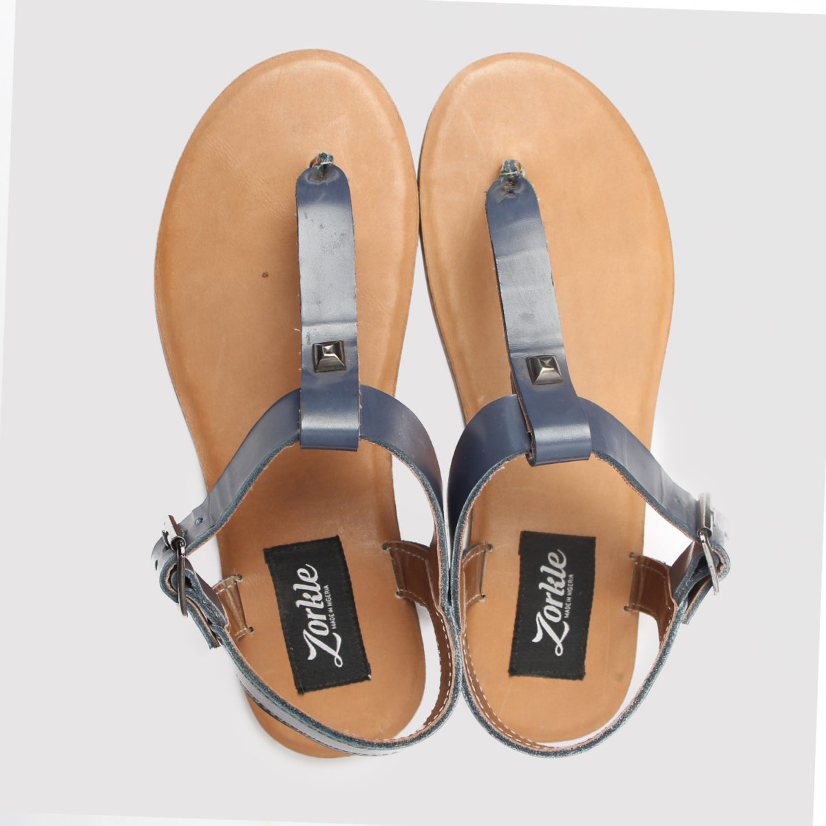 Toke sandals blue leather zorkle shoes in lagos nigeria