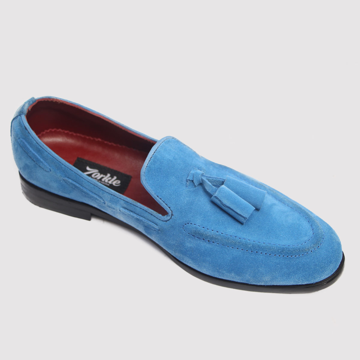 Trevor tassel loafers blue suede zorkle shoes in lagos nigeria