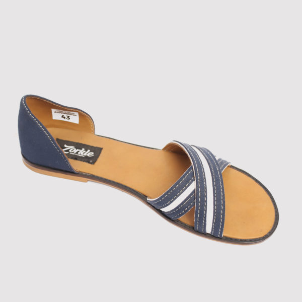 Kisha crisscross sandals blue white leather zorkle shoes in lagos nigeria