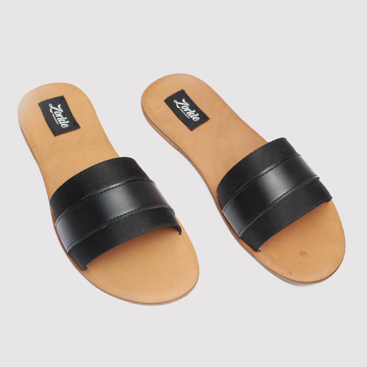Lere flex black leather zorkle shoes in lagos nigeria