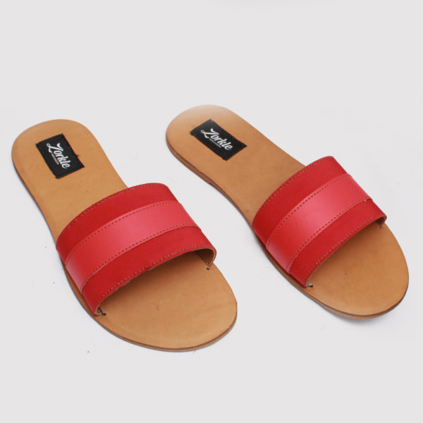 Lere flex slippers red leather zorkle shoes in lagos nigeria